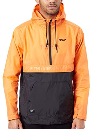 Vans x Space Voyager NASA Windbreaker Anorak Hoodie Orange Black at ...