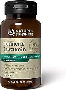 Nature's Sunshine Turmeric Curcumin, 60 VegCaps
