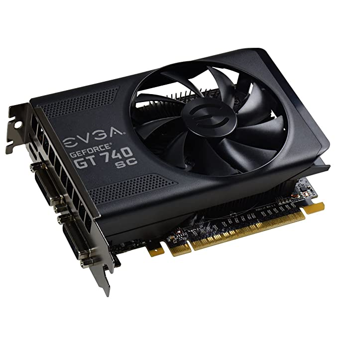 EVGA GeForce GT 740 Superclocked Dual Slot 2GB DDR3 Graphics Cards 02G-P4-2743-KR