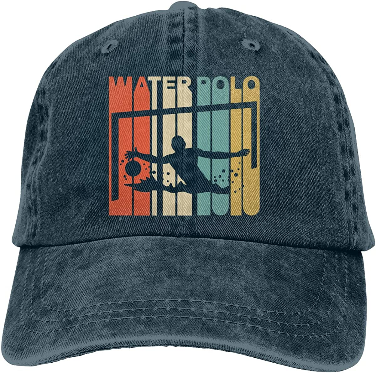 Vintage Style Water Polo Mens Womens Adjustable Yarn-Dyed Baseball Cap Sun Hat