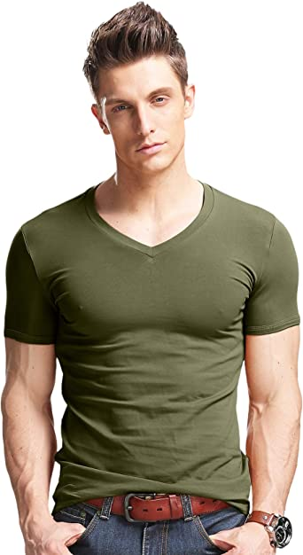 Mens Athletic T-Shirt Fast Drying Running Workout Shirts Activewear Top Slim fit
