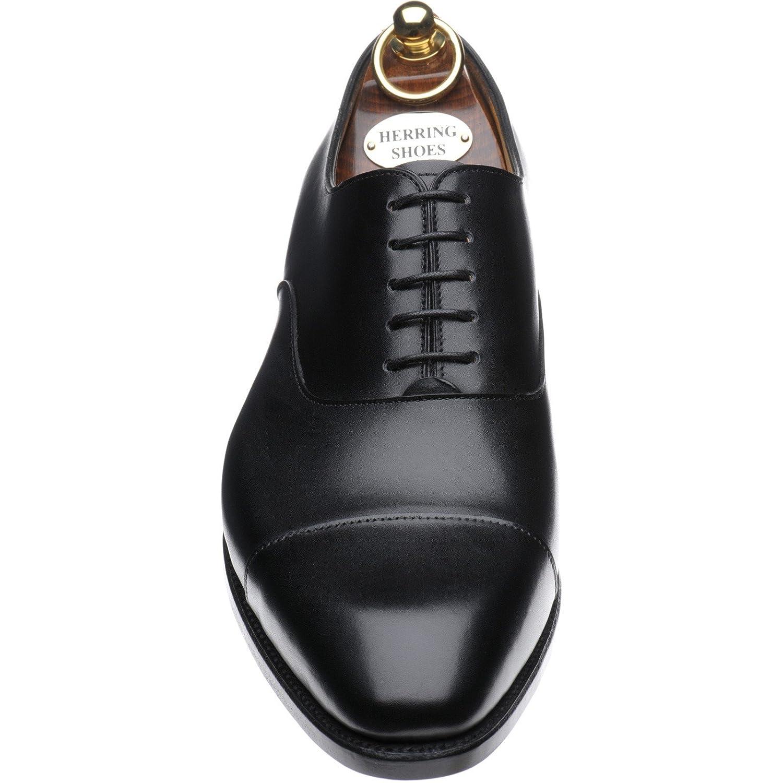 Le Hareng Hareng - Dickens Chaussures À Lacets Noirs Pour Les Hommes Veau Noir, Couleur Noir, Taille 39 Eu F