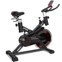 ISE Vélo d'appartement ergomètre Cardio Vélo Biking, Supports pour Bras, cardiofréquencemètre, Silencieux, 120 kg Max SY-7005-2
