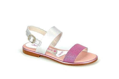 bae80fc14b Pablosky 815258 - Sandalias Infantiles, Color Plata. Rosa, Talla 31:  Amazon.es: Zapatos y complementos