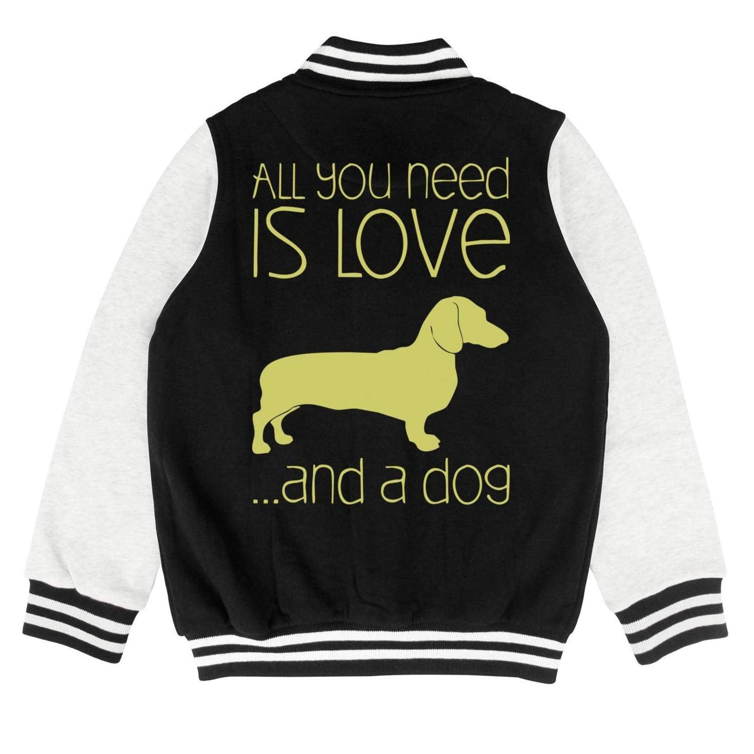 PoPBelle Kids I Just Want to Drink Wine and Pet My Dog Youth Jacket for Girls Boys Cute Outerwear Coats