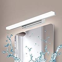 Kimjo Lámpara de Espejo Baño 40CM 9W IP44 Contra Niebla, Aplique Espejo Baño Blanca…