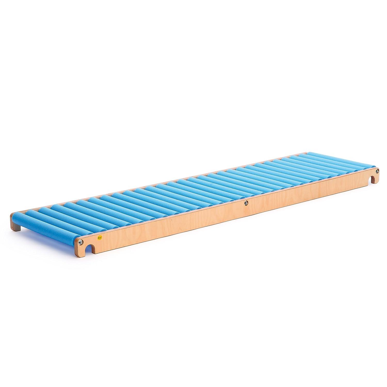 Erzi Rollenrutsche, Trainingsrutsche, aus Holz / Schaumstoff, Maße 205 x 58 x 10,5 cm, natur-blau