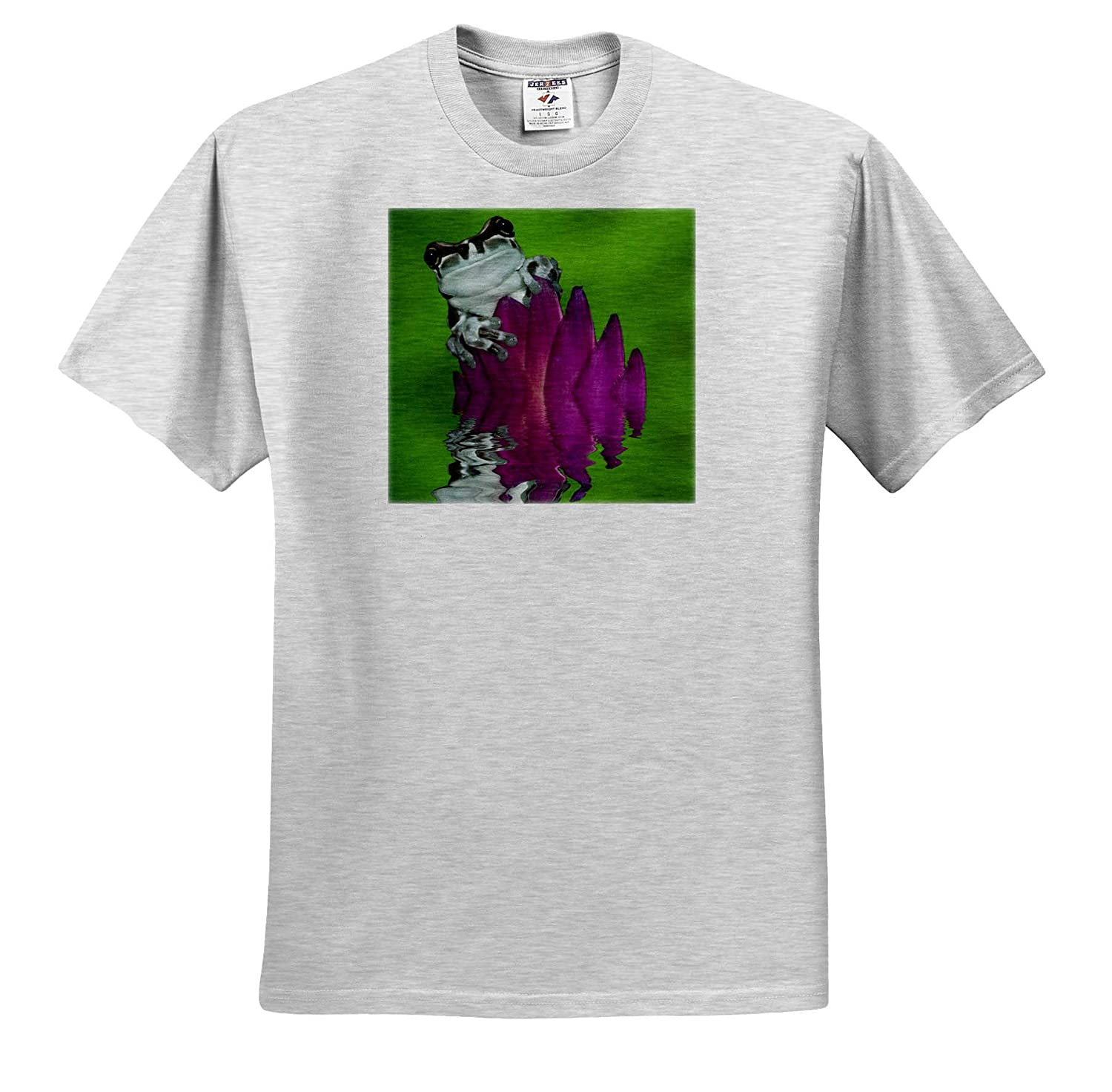 - Adult T-Shirt XL Frogs ts/_314399 Panama South America Milk Frog Reflects in Water 3dRose Danita Delimont