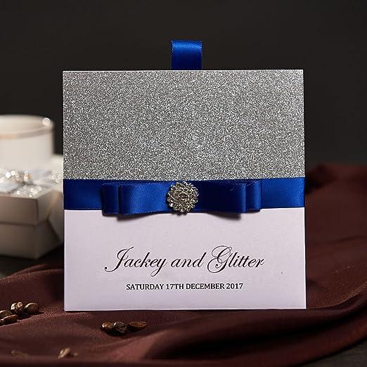 50 tradicional bolsillo invitaciones de boda con RSVP tarjetas y ...