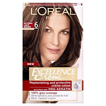 L Oreal Excellence Permanent Hair Colour 6 Natural Light Brown