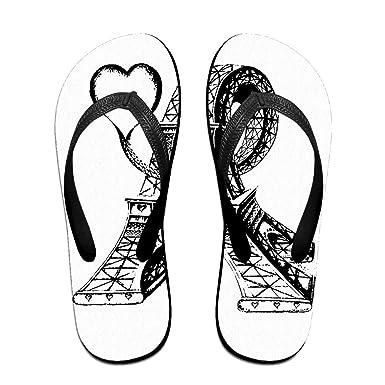 83670e21f37c7 Creative Eiffel Tower Lovers Unisex Comfortable Beach Flip Flops Sandals  Slippers Sandal For Home   Beach