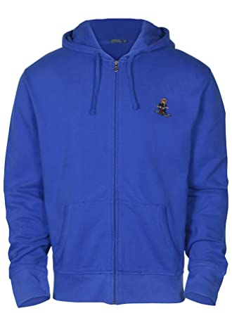 aa78b22b5 Amazon.com  Polo Ralph Lauren Men s Zip Up Fleece Bear Logo Hoodie  Clothing