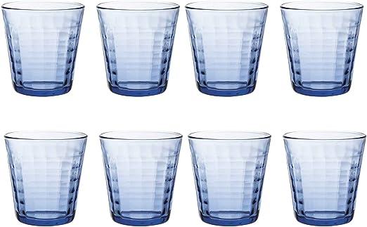 Duralex Prisme - Juego de Vasos Bajos de Colores - para Agua o Zumo - Azul - 275 ml - Pack de 8: Amazon.es: Hogar