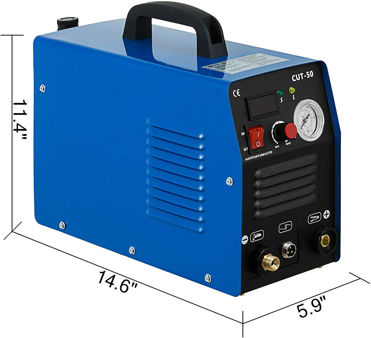 CUT50 Welding Cutting Machine Digital Inverter Dual Voltage 110//220V YiiYYaa 50 AMP Plasma Cutter