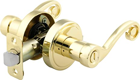 Brinks 2740-105 Scroll Style Lever Door Knob with Privacy Key for ...