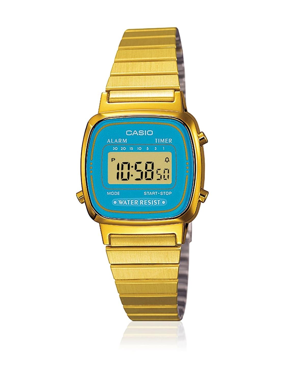 Amazon.com: Casio la670wga-2 de la mujer reloj de cuarzo de ...