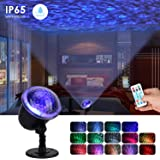 Night Light Projector Lights for Kids, Ocean Wave Projector Light with Ripple RGB 3D Water Effect, Remote Control Nursery Lamp Waterproof for Bedroom Garden Wedding Party Disco