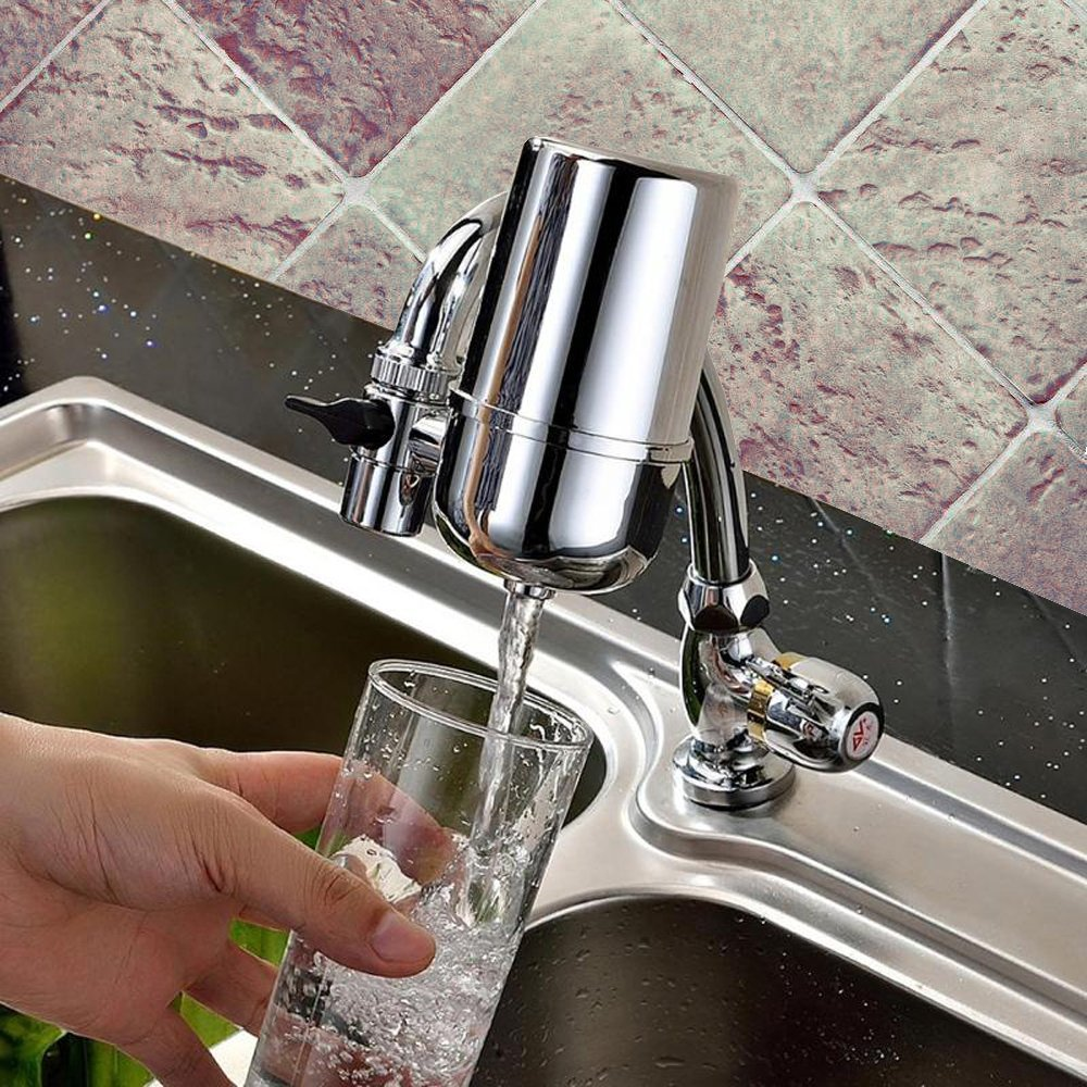 Newbud Faucet Water Filter, Tap Water Purifier Filter, Best Filtration System & Cartridge for Apply to Kitchen and Bathroom Sink