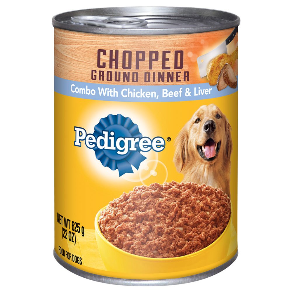 Pedigree Chicken/Beef/Liver Canned Dog Food, 22 Oz