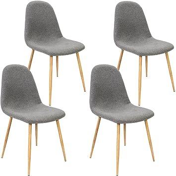 Deuba 4x Esszimmerstuhle Design Stuhl Kuchenstuhl Ergonomisch