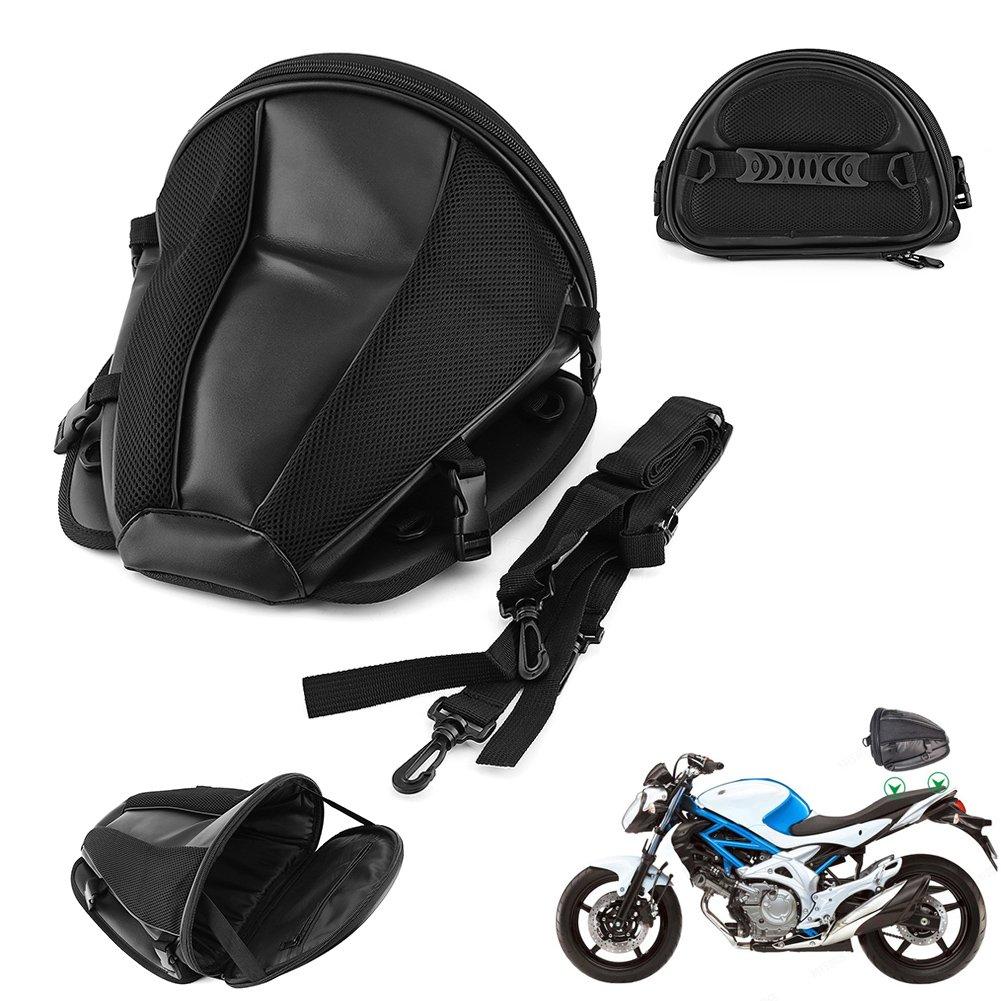 Qiilu QL01776 Sella per moto sportiva posteriore impermeabile Borsa per il trasporto Borsa per il trasporto Sella portatile