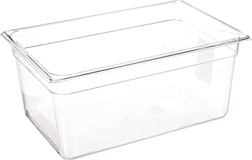 LIPAVI Sous Vide Container - Model C15-18 Quarts - 17.6 x 11.4 Inch - Strong & Clear See-through Polycarbonate - Matching L15 Rack and Tailored Lids for virtually every circulator sold separately.