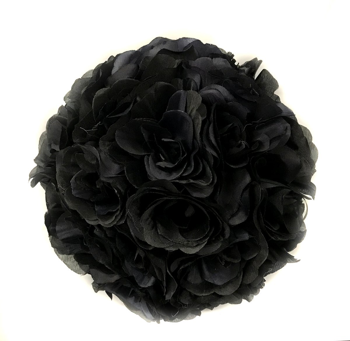 Ben-Collection-Fabric-Artificial-Flowers-Silk-Rose-Pomander-Wedding-Party-Home-Decoration-Kissing-Ball-Trendy-Color-Simulation-Flower-Black-25cm