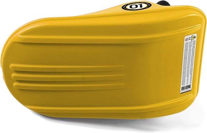 Wirezoll Zipfy Freestyle Mini Luge Snow Sled Yellow