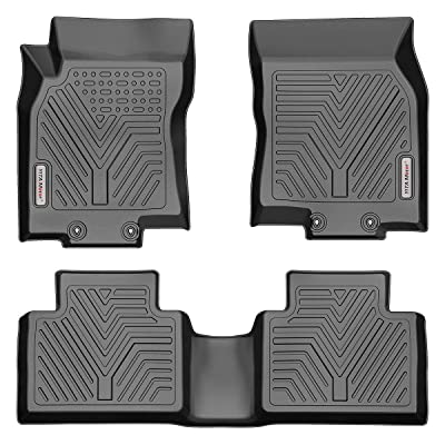 YITAMOTOR Floor Mats Compatible with Nissan Rogue, Custom fit Floor Liners for 2014-2020 Nissan Rogue, 1st & 2nd Row All Weather Protection(No Rogue Sport or Select Models): Automotive