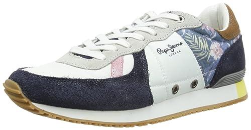 Pepe Jeans London TN-291 C PMS30019 800 - Zapatillas de Tela para Hombre, Color Blanco, Talla 40: Amazon.es: Zapatos y complementos