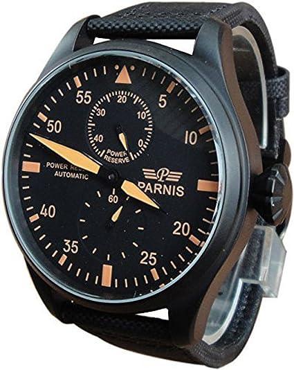 carlien PARNIS Piloto grande diámetro automático reloj con diseño de gaviota movimiento st2530 energía pantalla: PARNIS: Amazon.es: Relojes
