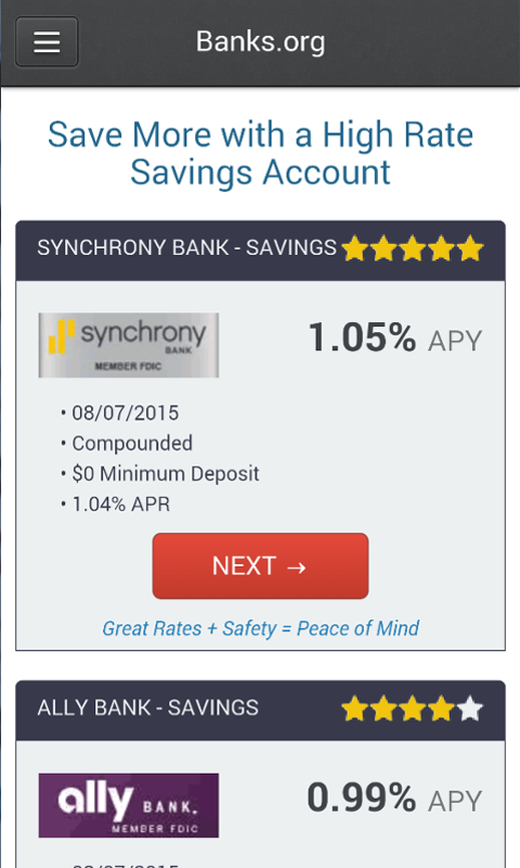 Amazon com: Savings Account Rates: Appstore for Android
