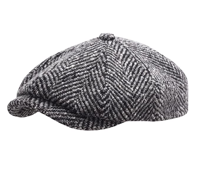 Stetson Men s Hatteras Herringbone Newsboy Cap at Amazon Men s Clothing  store  a323043c19f