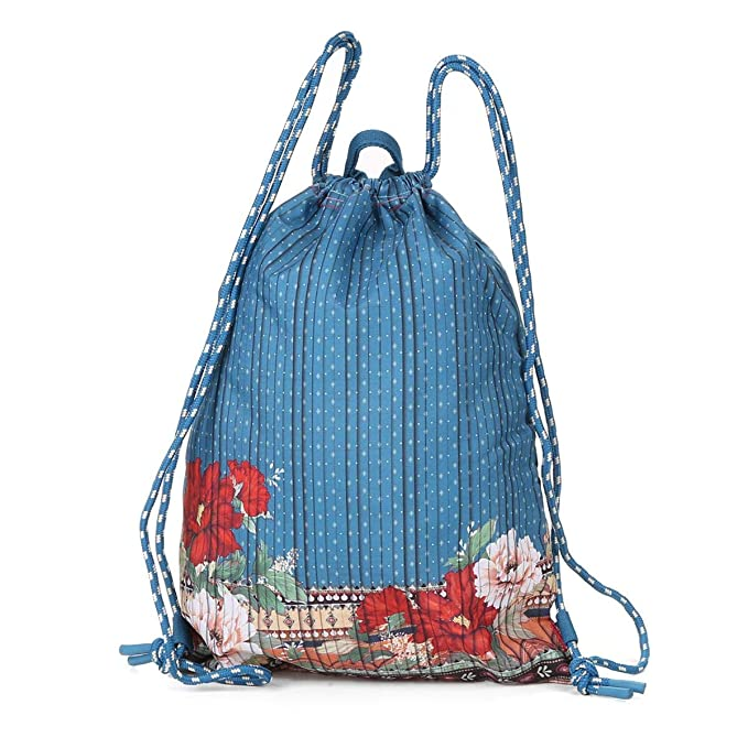 2e8549e41 Bolsa Farm Saco Estampada Feminina - Azul+vermelho - Único: Amazon.com.br:  Amazon Moda