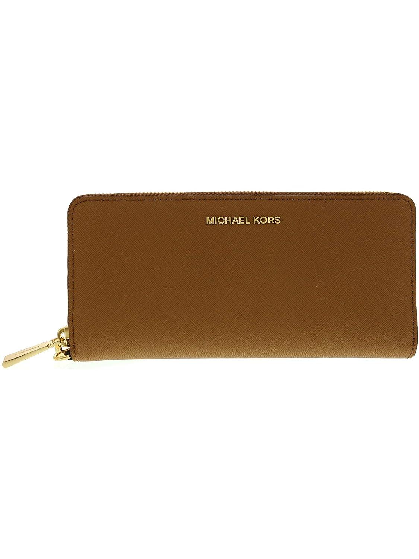 3de778ff3b78ce Michael Kors Women's Jet Set Travel Leather Continental Wallet Wristlet -  Acorn/Gold: Handbags: Amazon.com