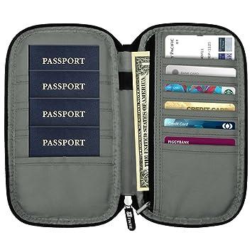 Fintie Porte-passeport Housse - Sécurité Anti-Piratage Blocage des Signaux  RFID Voyage Protecteur 90b45c01375