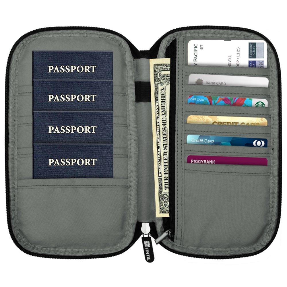 Family Passport Holder, Fintie RFID Blocking Zipper Case Document Organizer, Love Tree by Fintie (Image #3)