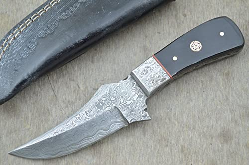 Leather-n-Dagger Huge Sale Professional Custom Handmade Damascus Steel Skinner Hunting Knife, Buy with Confidence Great Gift Ld138