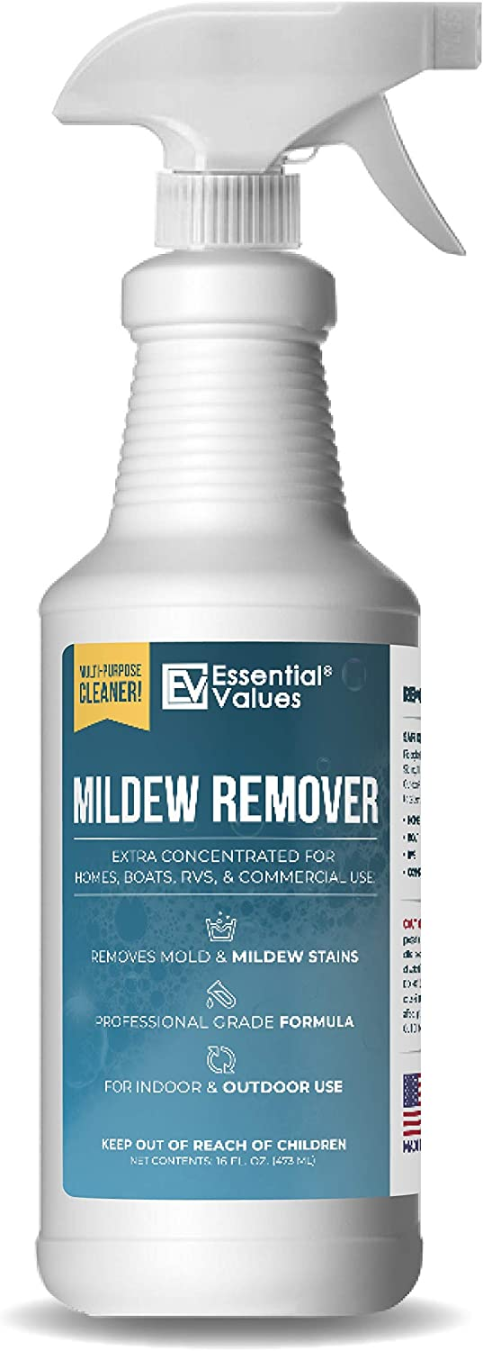 Mildew Remover, Made in USA | Mold Remover - Safe for Indoor & Outdoors, Extra Concentrated Formula that Works Great as a Mold and Mildew Remover –– Designed for Home, Boats, RVS, & Commercial Use