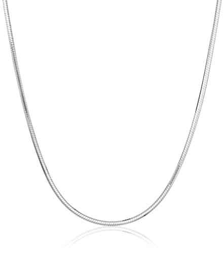 Amazon.com: Collar con cadena de enlaces de 0,8 mm de plata ...