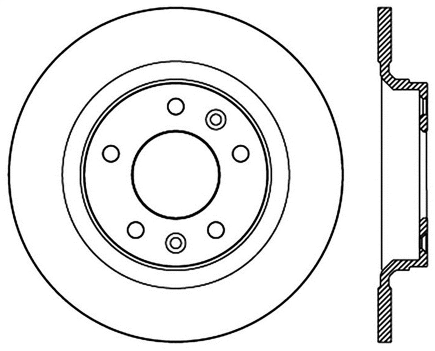 StopTech 127.61097L Sport Drilled//Slotted Brake Rotor 1 Pack Rear Left