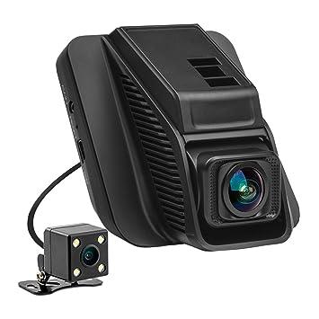 Amazon Com 2 45 Car Dash Cam Full Hd 1080p Front 720p Rear 290