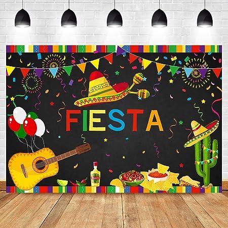 Toile De Fond Photo En Vinyle Fete D Anniversaire Mexique Ford Fiesta Theme Anniversaire Banniere Fete Evenement Decoration Tissu De Fond De Photographie Toile De Fond De Cabine De Douche De Amazon Fr Photo