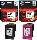 HP 650Cartouches d'encre d'origine Noir et couleur
