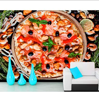Wiwhy Comida Rápida Pizza Camarones Comida Oliva Papel Tapiz 3D ...