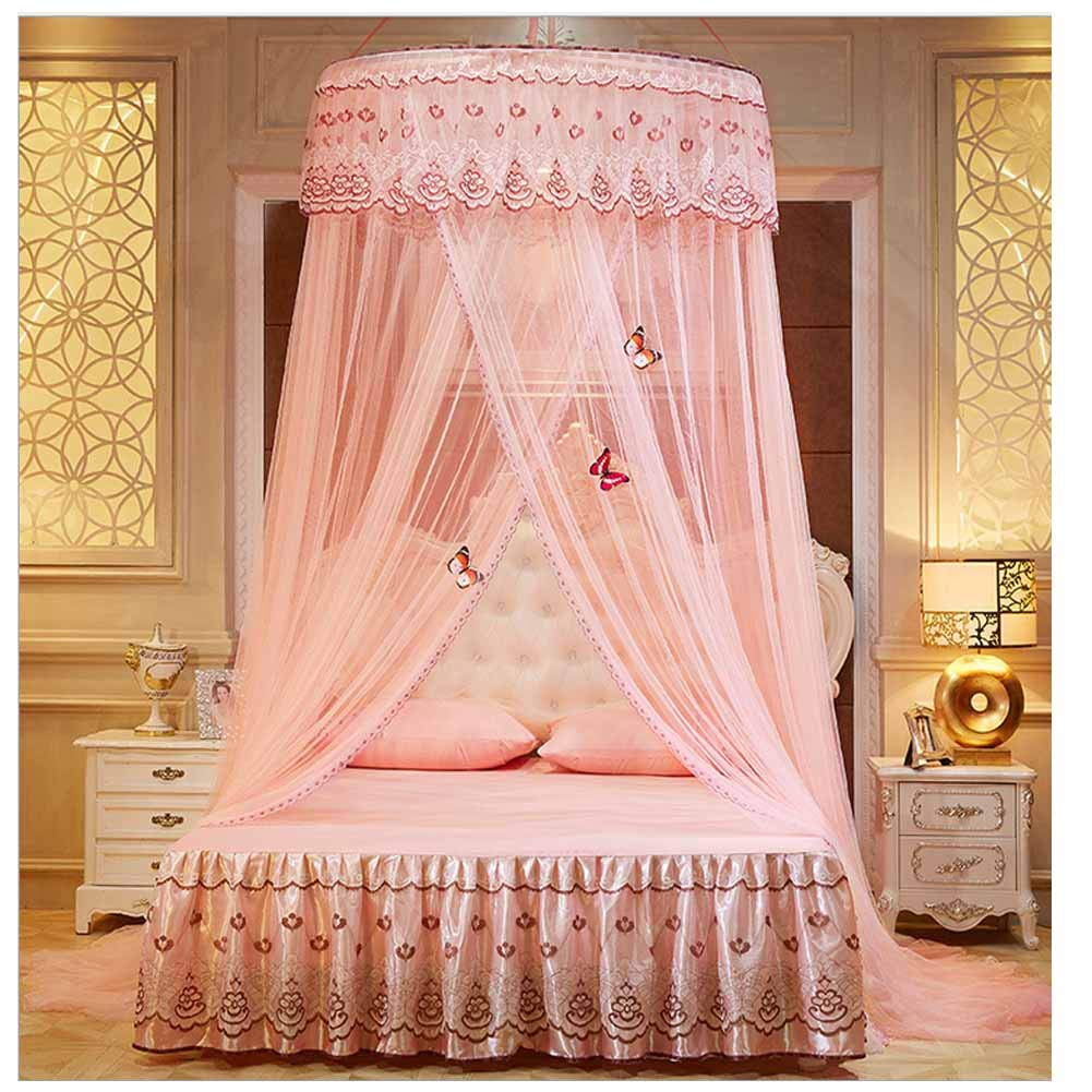 POPPAP Bed Canopy Dream Tent Bedroom Decor Bed Canopy Jade Color Ceiling Hanging Canopy (Little Princess)