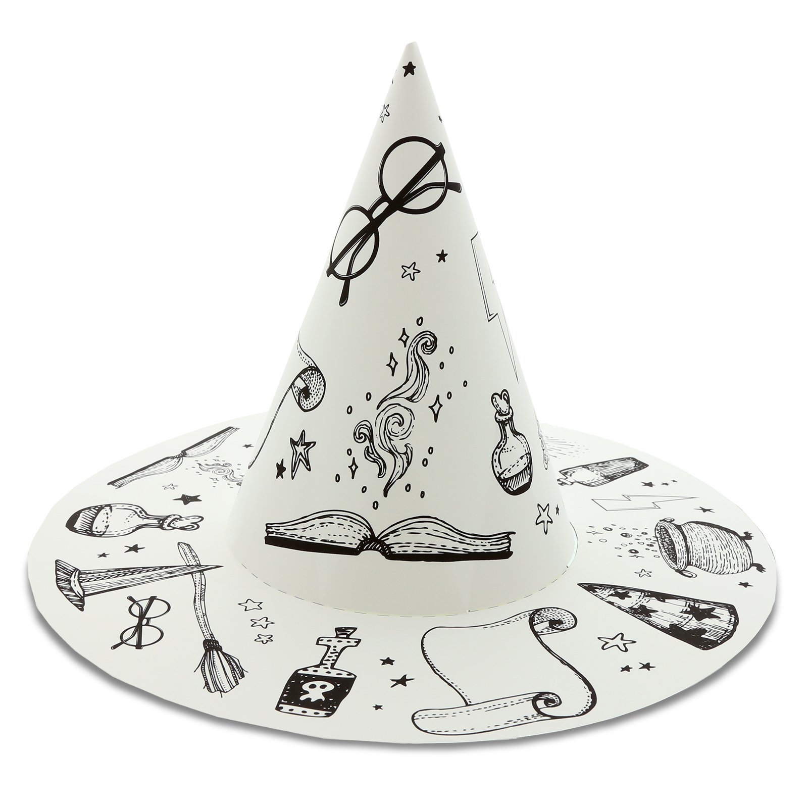 Wizard School Express Party Supplies Paper Wizard Hat Favors (16)