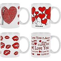 com-four® Taza de café de cerámica 4x