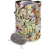 Bolsa cubo de tejer, organiza y almacena tus accesorios y agujas, estilo retro