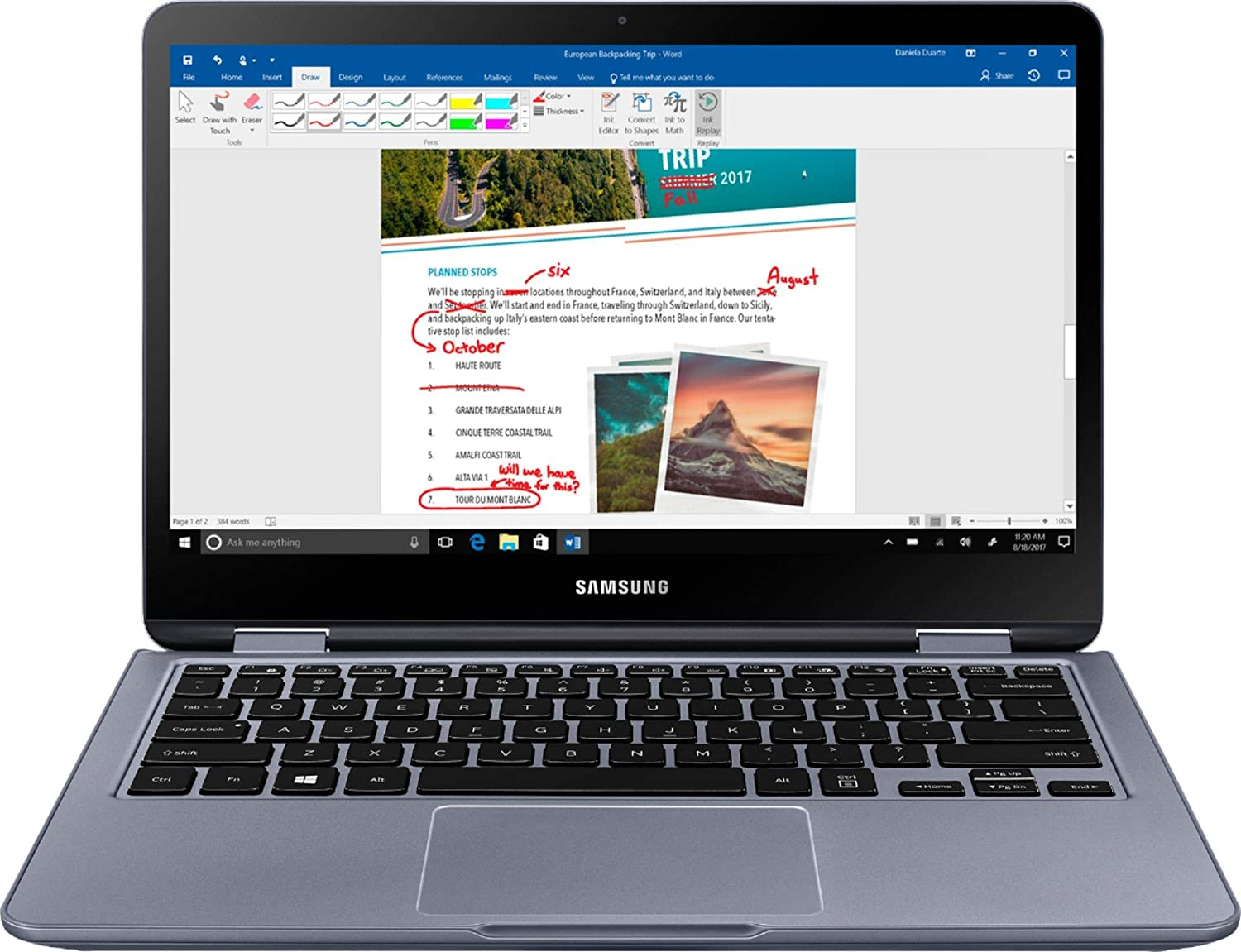 "Samsung - Notebook 7 Spin 2-in-1 13.3"" Touch-Screen Laptop - Intel Core i5 - 8GB Memory - 512GB Solid State Drive - Stealth Silver (Renewed)"